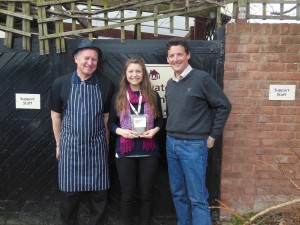 Tim Woodward with Rosie Sandy and chef Malcolm Joslin at TAH