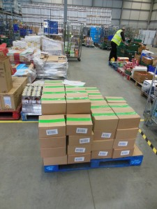 Pallet of Country Casserole at FareShare Newcastle