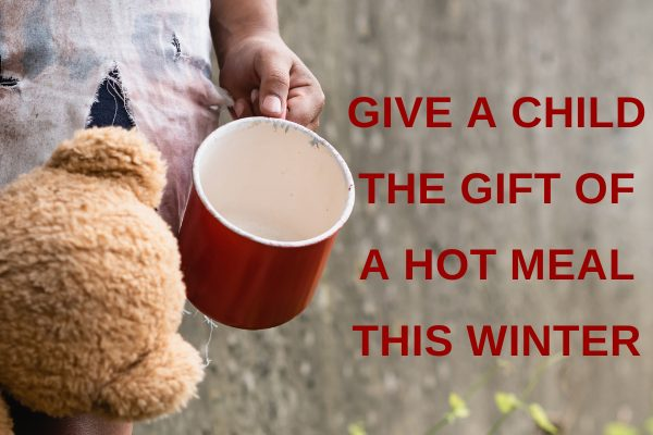 Give a child the gift of a hot meal this winter