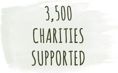 3,500 CHARITIES HAVE NOW BEEN SUPPORTED!